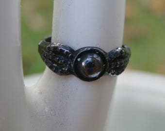 Antique Victorian Edwardian Brass or Copper Child Girls Baby Ring