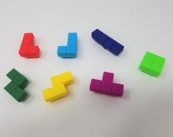Tetris Drawer Pull - Custom Colors/Dresser Pulls/Drawer Pulls/Drawer Knob/Video Game/Arcade/Handle/Unique/Kids Decor/Nursery/Retro/Craft