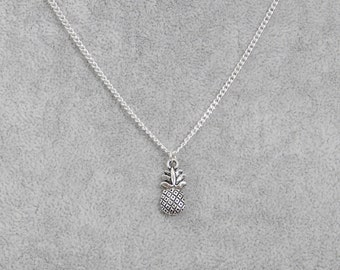 Silver Pineapple Charm Necklace, Pineapple Charm Pendant, Silver Pineapple Charm, Charm Necklace, Silver Charm Pendant, Pineapple Jewellery