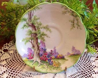 Royal Albert Greenwood Tree orphan saucer.