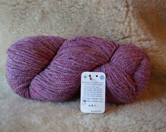 worsted weight: RASPBERRY 2 ply worsted weight wool yarn from Bartlettyarn