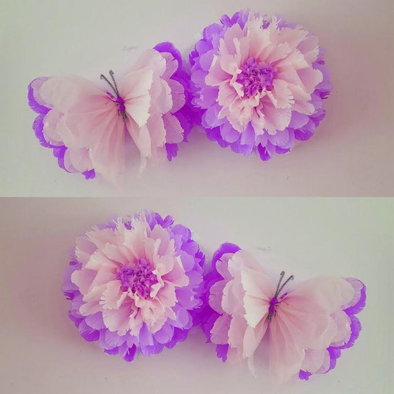1 wall flower 1 butterfly girls birthday party decorations