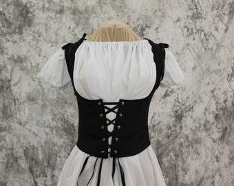 Black Renaissance Costume-Halloween Costume-Medieval Skirt-LARP-Ren Fair-Steampunk-SCA-Adult Costume-Fantasy Skirt-Item #267