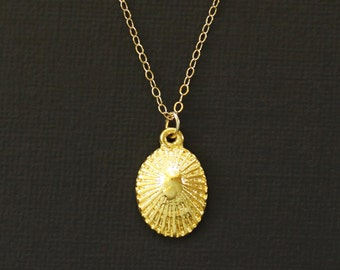 Gold Hawaiian Opihi Shell Necklace