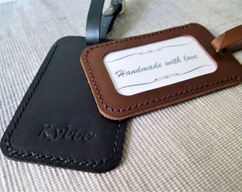 Personalized luggage tag leather custom luggage tag monogram luggage tags Leather, engraved luggage tag Italian Leather travel luggage tag