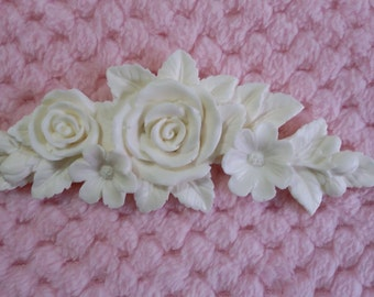 Rose applique/shabby chic/furniture applique/embellishment/