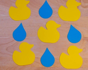 Ducks with Raindrop Cut Outs (Various Sizes and Colors Available)