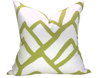 SECONDS- Zimba pillow cover in Soft Chartreuse