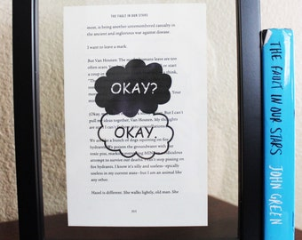 The Fault in Our Stars • Okay? Okay Print • Book quote • Hazel Grace • Gus Waters • John Green • book print • wall art • home decor •