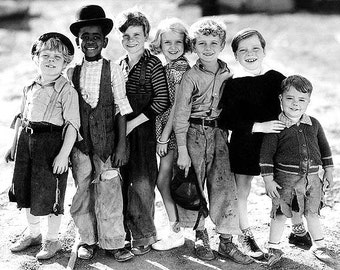 Our Gang, also known as The Little Rascals, on a sunny beach in 1934