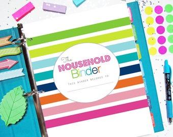 Home Management Binder, Printable Planner, Household Binder - Budget, Cleaning, Letter Size, Big Happy Planner