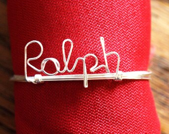 Name it - Personalized Napkin Ring for cloth napkin