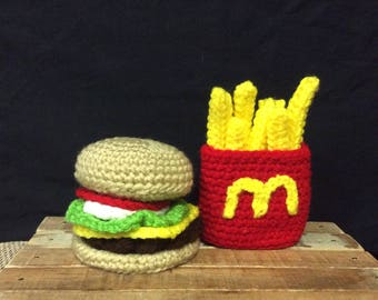 Everything Hamburger with side of Fries