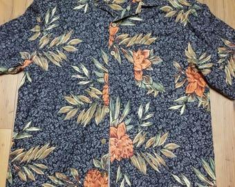 Vintage Floral Funky Print Button Down Shirt Size L?