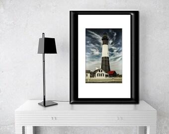 Tybee Island Lighthouse-Nautical Wall Art-Coastal Photography-Lighthouse Wall Print-Fine Art Photograph-Georgia Coast-Vertical Print