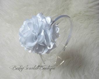 White Flower Baby,Girl Hard Headband