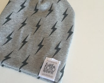 Lightening Bolt Hipster Beanie