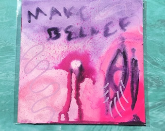"""Make Belief / Colorful Watercolor Painting on Artist Grade 8"""" x 8"""" Paper"""