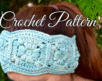 CROCHET PATTERN Headband and Hand Warmers Set - Crochet Pattern for women - The MADISON Set