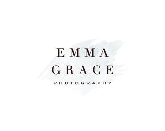 Photography Logo and Watermark, Premade Logo Design, Watercolor Logo  384