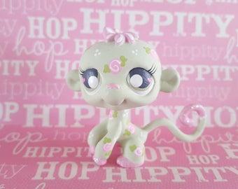 Vintage Rose Monkey OOAK Custom Littlest Pet Shop Repaint LPS