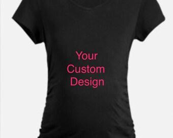 Maternity T-shirt, Custom, Personalized