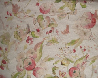 Melody fibre naturelle Coralime cotton curtain fabric