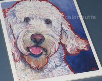 LABRADOODLE Dog Art 8x10 Signed Print from Painting by Lynn Culp