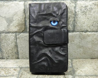 Wallet Woman's Black Leather Clutch Pocket Credit Card Holder One Of A Kind