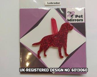Glitter acrylic Labrador Christmas decoration - 9 colour choices