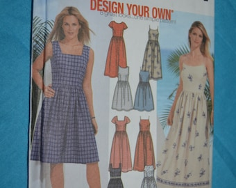 Simplicity 7206 Misses / Miss Petite Design Your Dress in Two Lengths Sewing Pattern - UNCUT - Size 6 8 10 12
