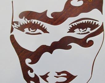 Party Mask Mardi Gras Mask Stencil Reusable 10 mil Mylar