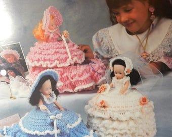 1993 Annie's Attic Crochet 87T74 Treasure Box Dolls