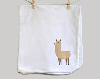 Baby blanket, llama baby blanket, llama swaddle blanket