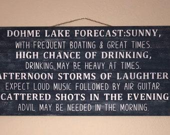 Lake Forecast Custom Sign