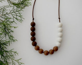 Teething Necklace, All Around Brown