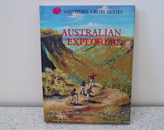 australian explorers...1970s vintage childrens reference book