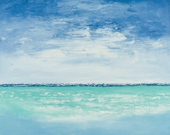 seascape printable, abstract seascape, seascape painting, ocean painting, beach printable, ocean print, beach print, instant, download