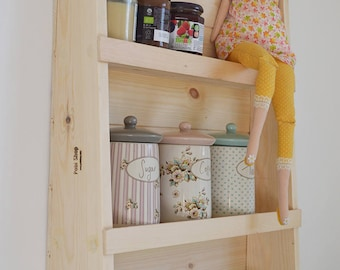 Storage Shelf perfect for Kitchens HAND MADE RETRO