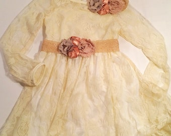 Baby girl lace dress maxi, Toddler girl lace dress maxi, baby girl flowergirl dress lace, Toddler girl flowergirl dress lace,