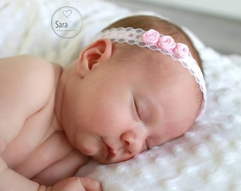 Sweet Little Roses Headband Photo Prop