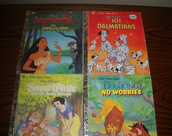 Set of 4 Walt Disney Children's Books
