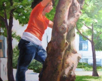 Tree Nymph - original oil painting