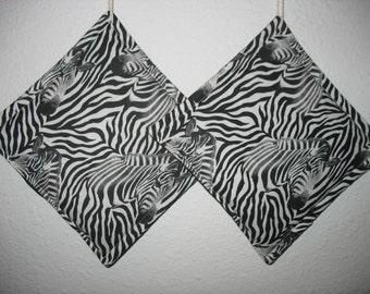 Zebra Potholders set of 2