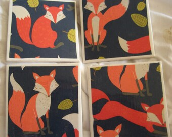 Foxes Awesome Coaster Set
