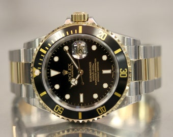 Vintage Stainless Steel and 18k Yellow Gold Rolex Submariner 40MM