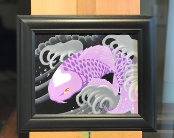 "Love Koi Pastel Purple  8""x10"""