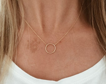 """Infinity Circle Necklace - 14/20 Gold Fill or Sterling Silver - 15"""", 16"""", 17"""", 18"""", 19"""" or 20"""" goldfill chain"""