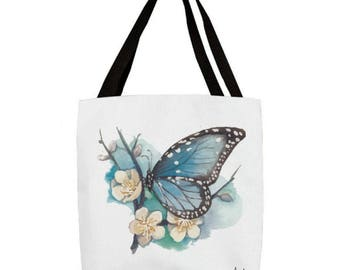 Blue Butterfly Tote