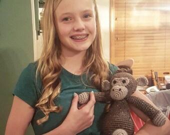 Crocheted Monkey Stuffed Animal
